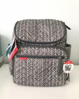 Skip Hop Forma Nappy Bag Backpack Grey Feather
