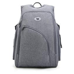 ECOSUSI Fully-Opened Diaper Backpack with Changing Pad  + We