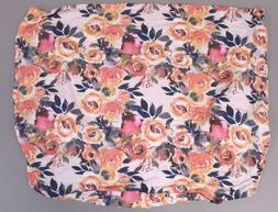 Posh Peanut Girl's Floral Changing Pad Cover KB8 Dusk Rose S