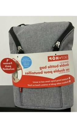 Skip Hop Grab and Go Insulated Double Bottle Bag Grey with F