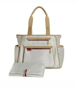 Skip Hop Grand Central Take-It-All Diaper Bag French Stripe