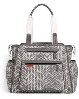 Skip Hop Grand Central Take it All Diaper Tote Bag Grey Feat