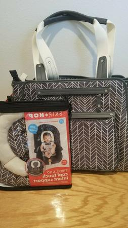skip hop Grand Central tote diaper bag with free matching ca