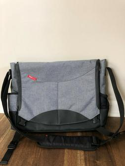 Skip Hop Grey Messenger Diaper Bag New NWOT