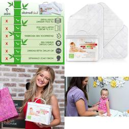Iluvbamboo Changing Pad Liners – 3 Pack – Waterproof, Po