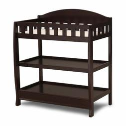 Delta Children Infant Changing Table with Pad, Dark Chocolat