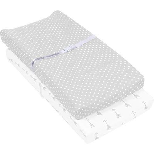 Changing Pad Cover | Cradle Bassinet Table Covers & Girls | Soft Jersey Knit Cotton | White 150 GSM