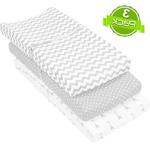 Changing Pad Cover | Sheets/Change Table Covers for & Girls Super Soft Cotton White | 3