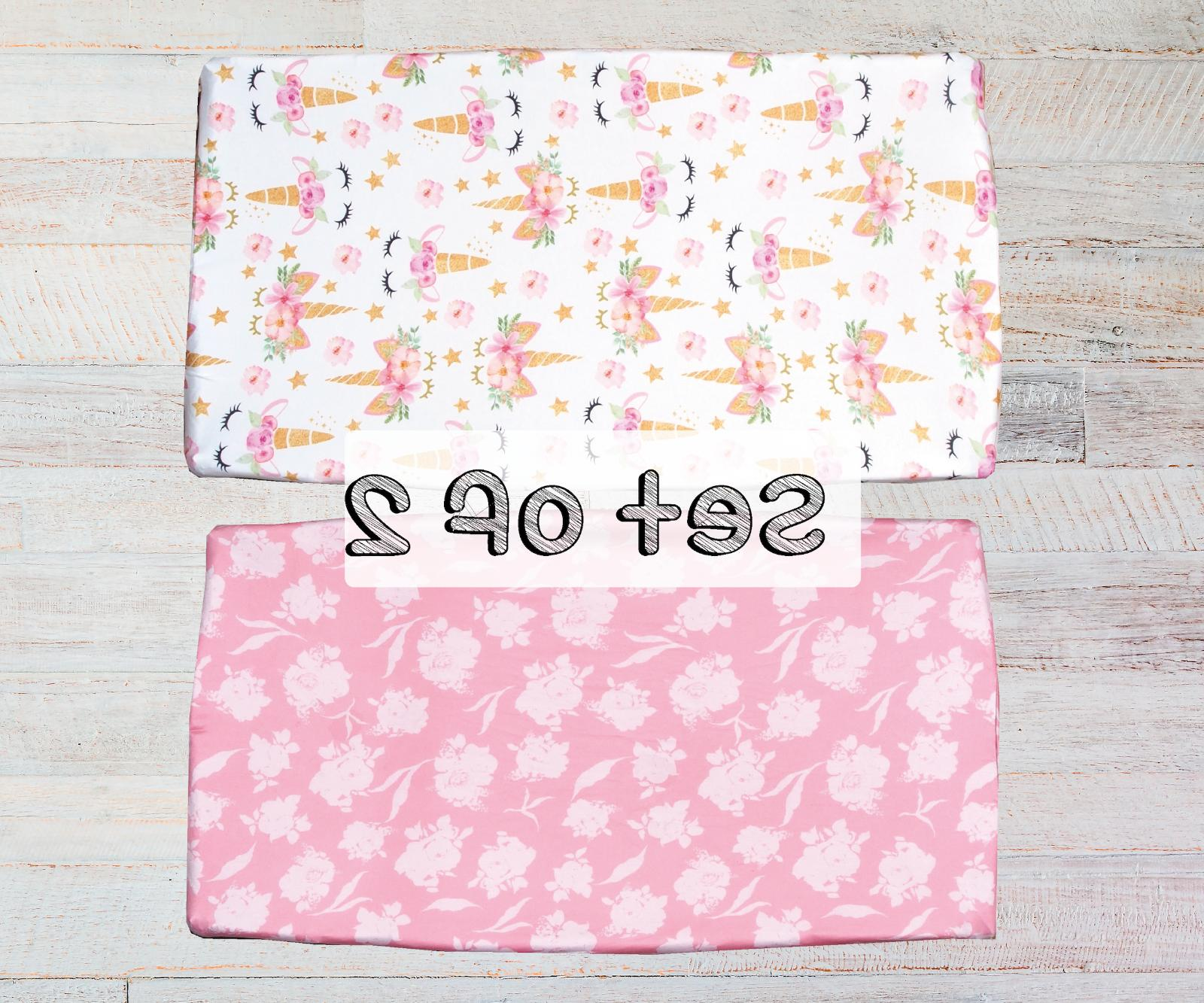 2 Pack Changing Pad Cover, Grey Diaper Changing Table Pad Co