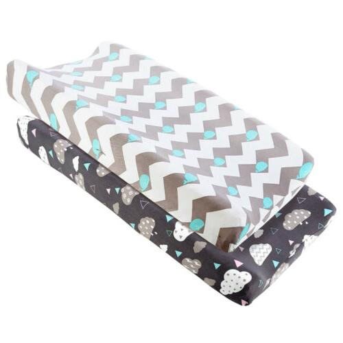 2pcs pack stretch fitted changing pad cover