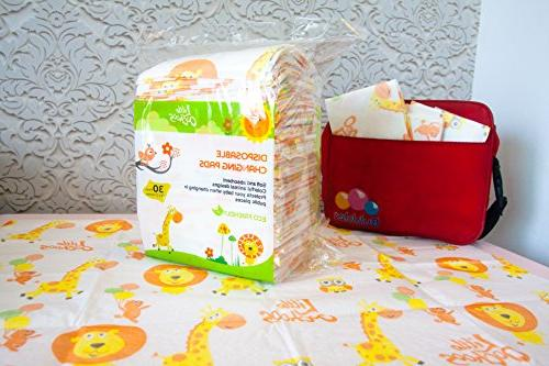 30 Large Changing Pads Infant Toddler Diaper Covers Station Soft Waterproof. Buy
