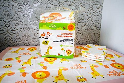 30 Changing Pads Sanitary Infant Covers Travel Changing Station Tables. and Waterproof. Germs. Buy
