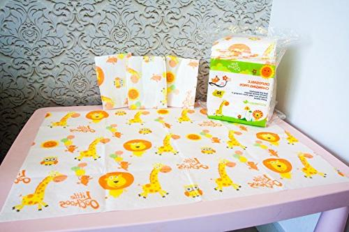 30 Large Infant Toddler Covers Station Waterproof. Against
