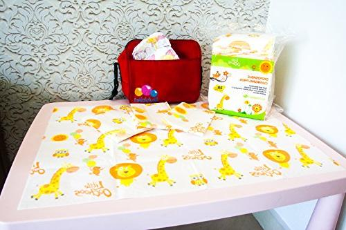 30 Large Pads Infant Toddler Covers for Travel Changing Station Tables. Waterproof. Protect Germs. Buy