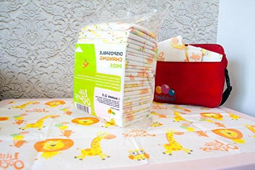 30 Large Disposable Pads Mats Infant Toddler Diaper Covers for Station Soft and Waterproof. Protect Germs. Buy Now!