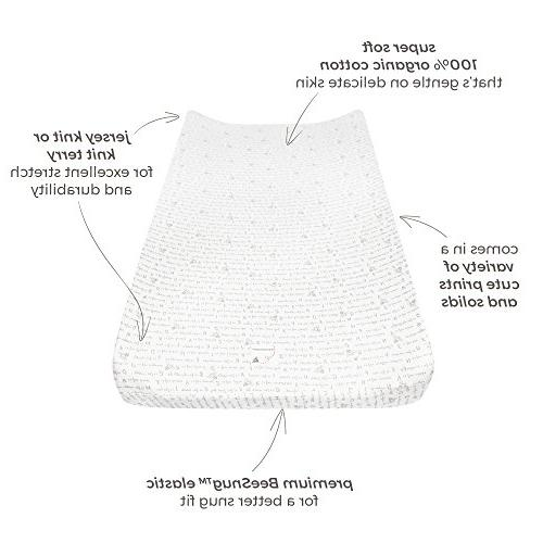"Burt's Bees - Changing Pad Cover, Super Absorbent 100% Organic for Standard 16"" 32"" Changing Pads"