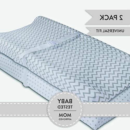 Cradle Sheet 2 Pack 100/% Jersey Cotton Unisex Sheets... Changing Pad Cover Set