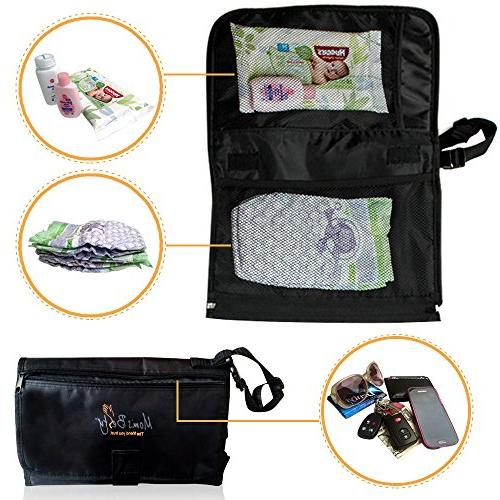 Portable Pad Head Cushion Diaper Change for Travel and – BONUS Pacifier Holder