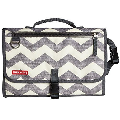 Skip Baby Pronto Portable Changing Station Cushioned Mat Wipes Case, 3 Chevron