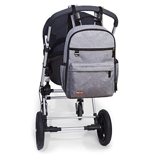 Skip Hop Diaper Bag Backpack With Matching Changing Pad, Duo Grey