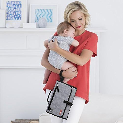 Portable Diaper Changing Built-In Heather