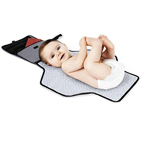 Skip Hop Portable Mat, Diaper Pad with Built-In