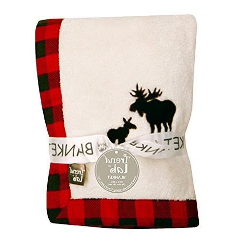 Trend Lab Northwoods Framed Receiving Blanket, Moose Appliqu