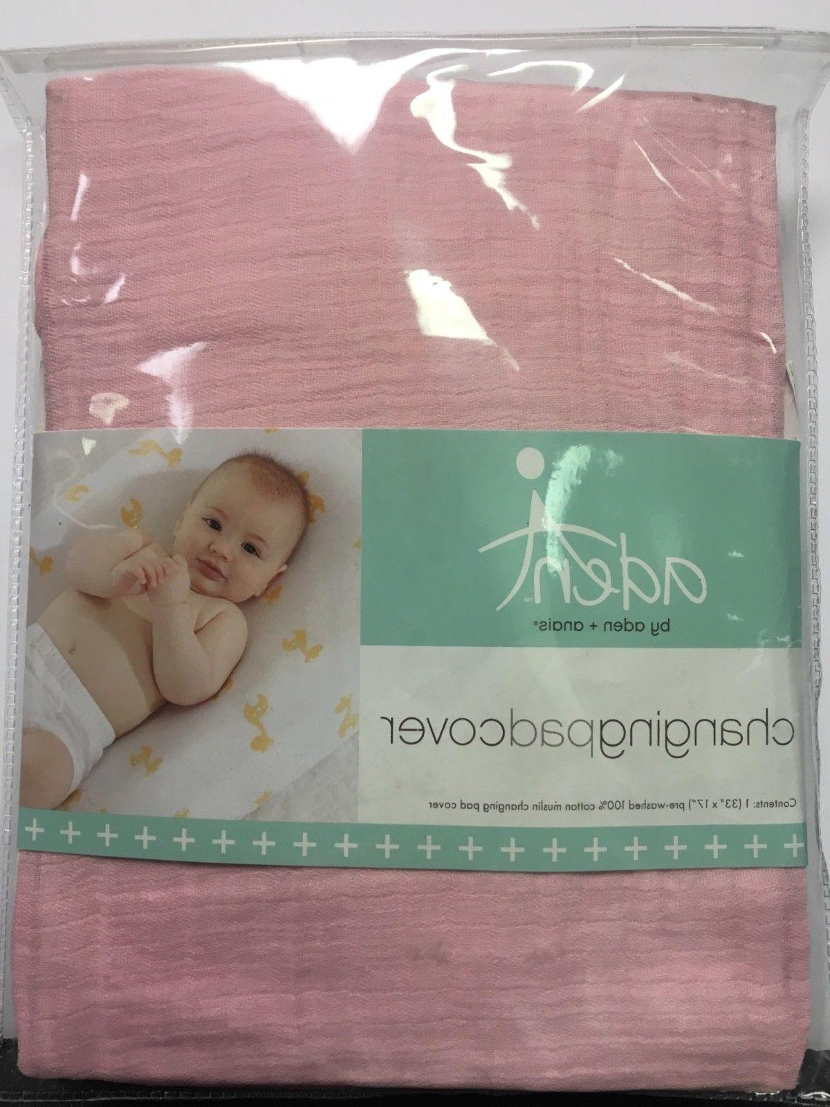 aden anais changing pad cover pink soft
