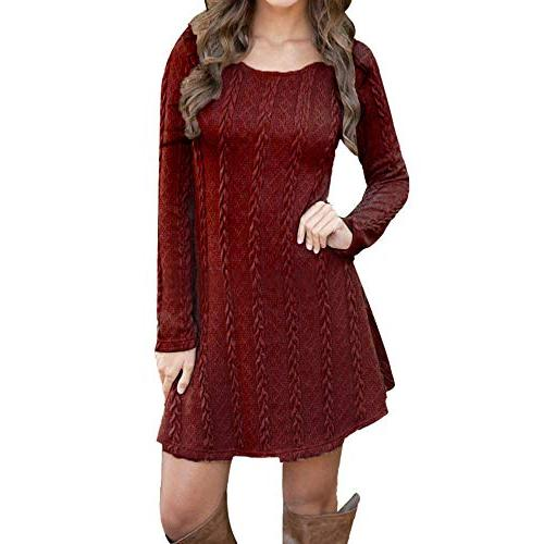 amofiny knit t shirt dress