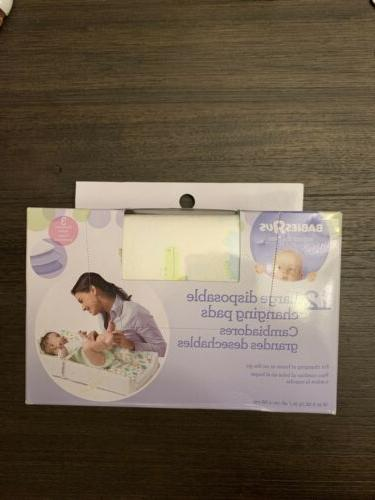 Babies Us disposable changing pads NEW Lot