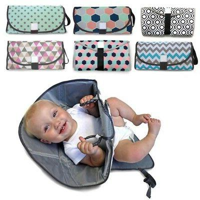 Baby Changing Travel Toddler Diaper Mat Infant Waterproof Nappy Bag