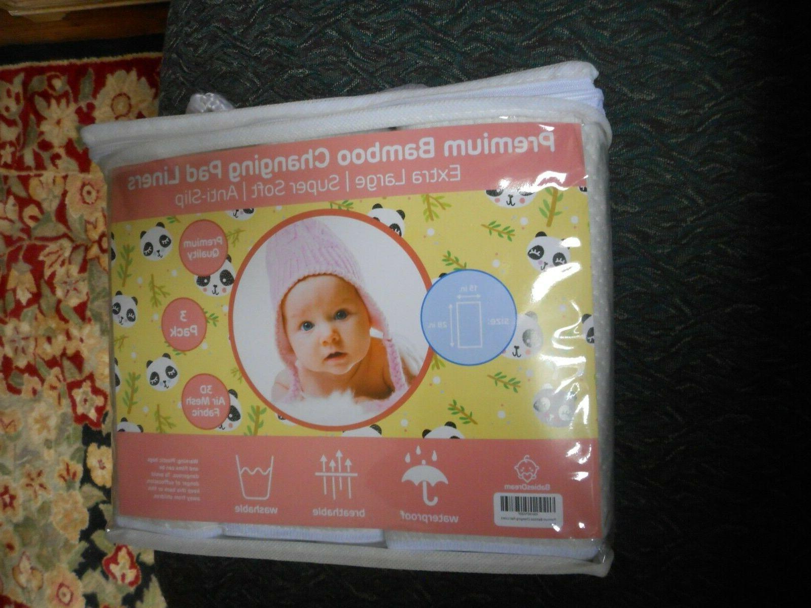 Baby Changing Washable, 3 Pack Premium Quality