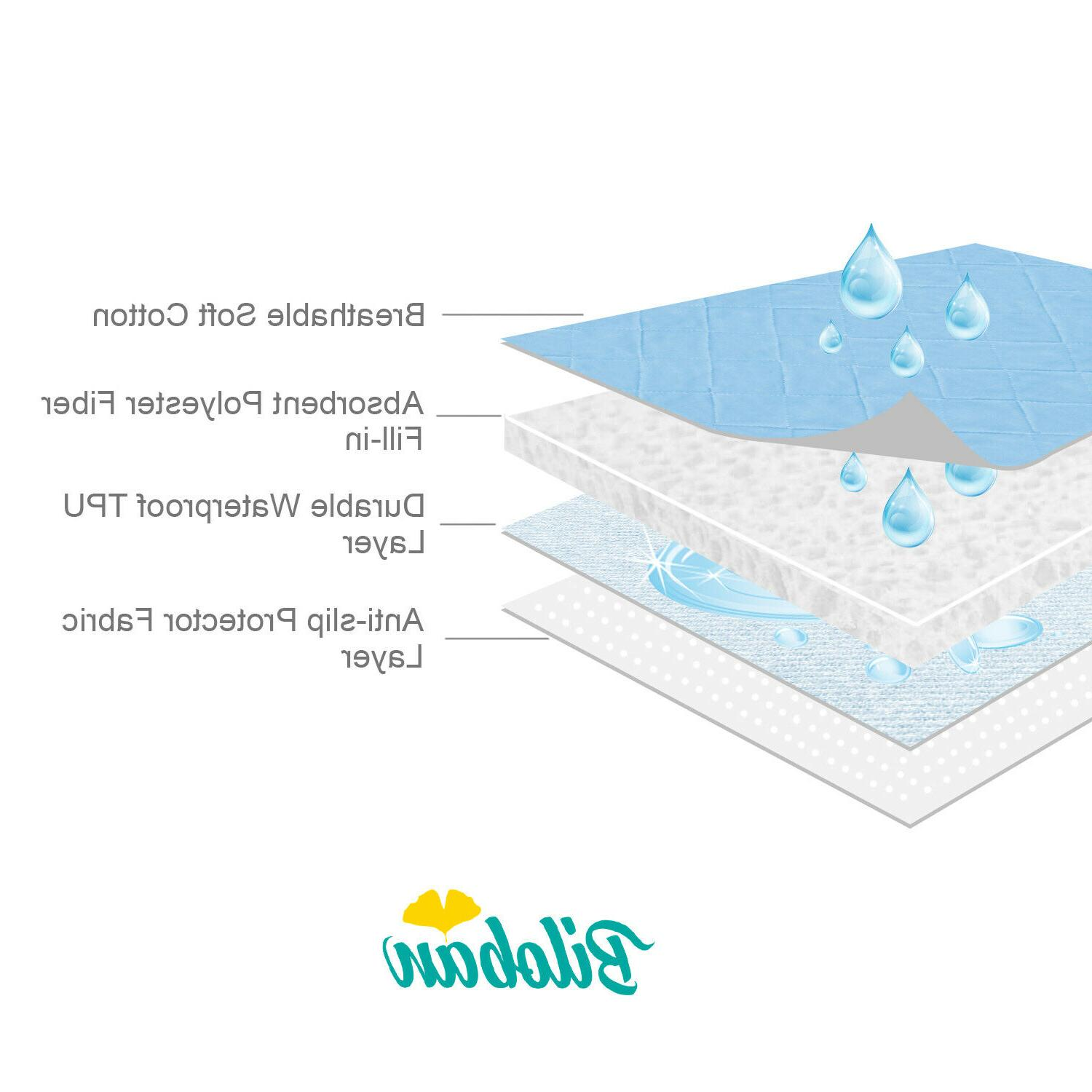 Baby Pad Nappy Cover Cotton Mat Anti-Slip Waterproof