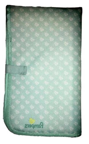 baby foldable changing mat pad teal green