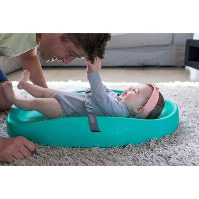 Bumbo Baby Foam Pad with Restrain Belt, Gray