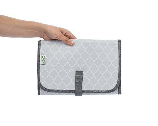 Baby Changing Diaper Mat Station, Grey Compact