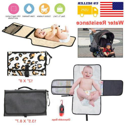 baby portable folding diaper changing pad travel