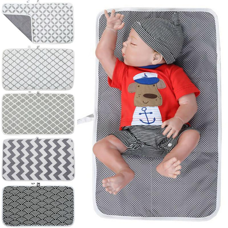Baby Travel Changing Mat Folding Portable Diaper Wipe Clean