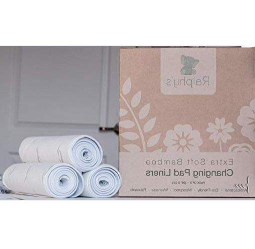 bamboo changing pad liners 3 pack extra