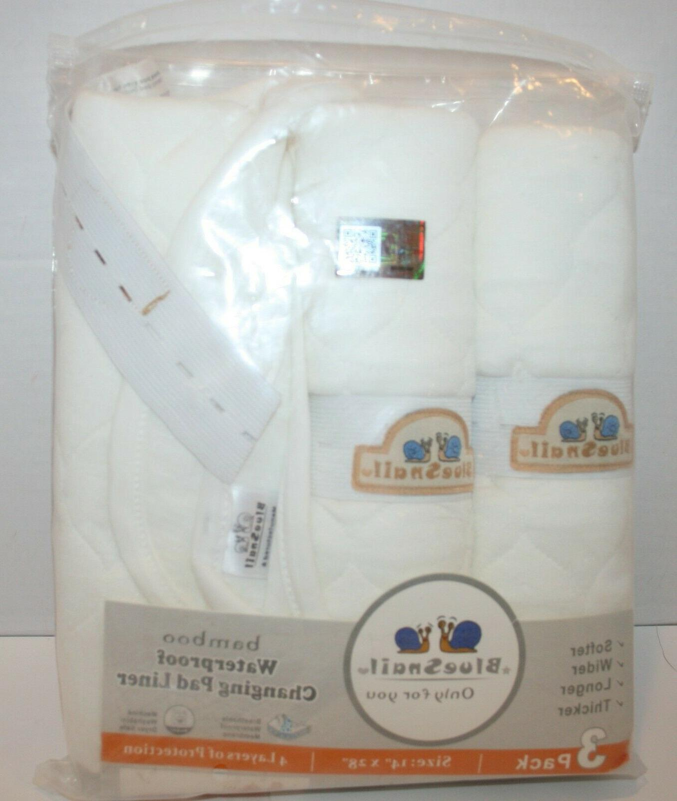 bamboo quilted thick waterproof changing pad liners