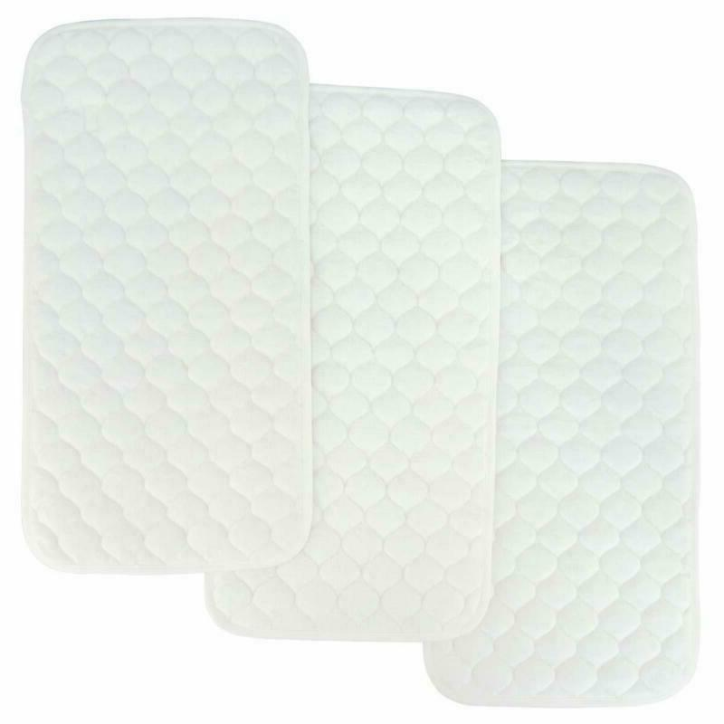 Bamboo Quilted Thicker Longer Waterproof Changing Pad Liners