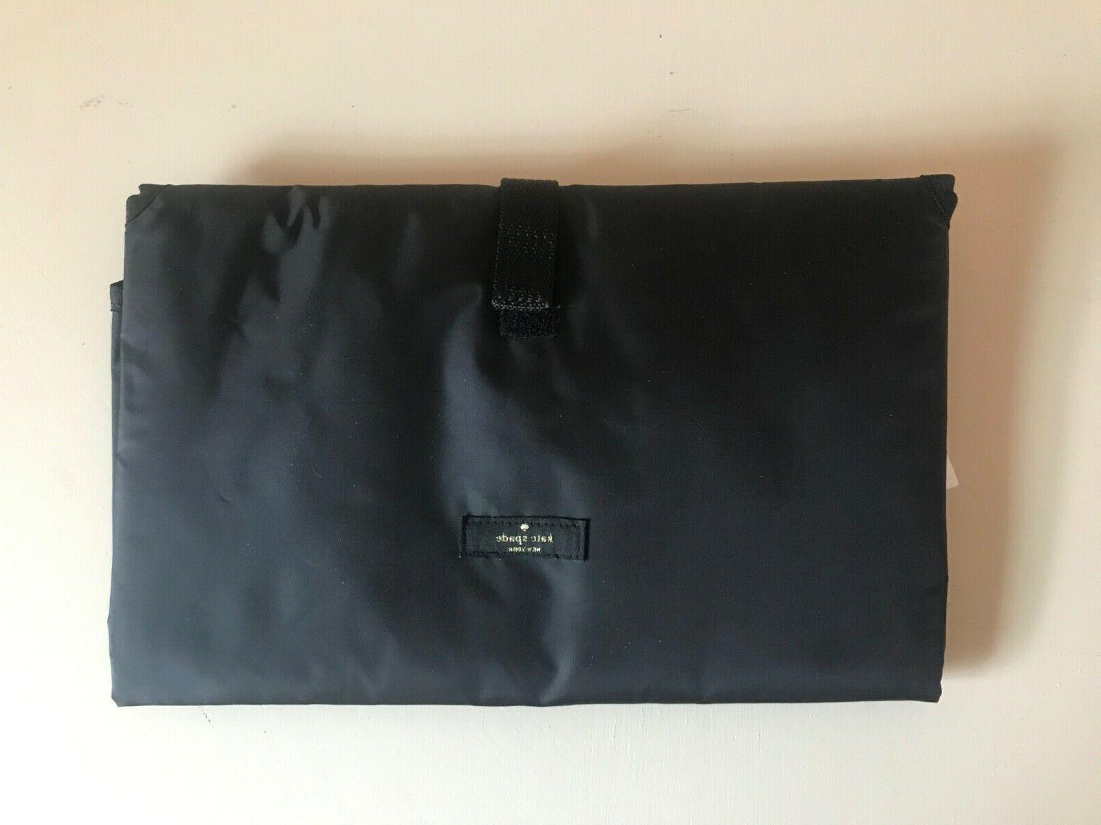 black baby changing pad mat diaper bag