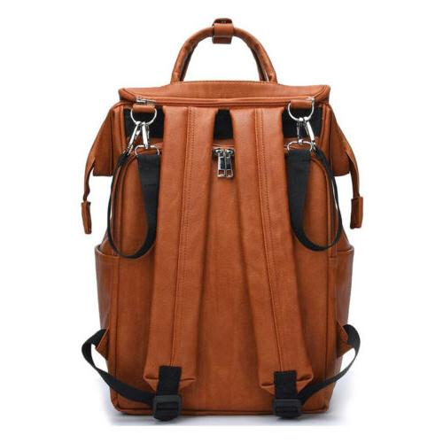 Brown Faux Mummy Diaper Backpack Baby Nappy Changing Pad