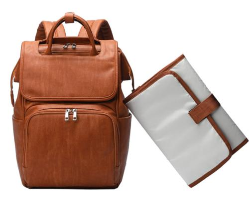 Brown Mummy Backpack Nappy Pad