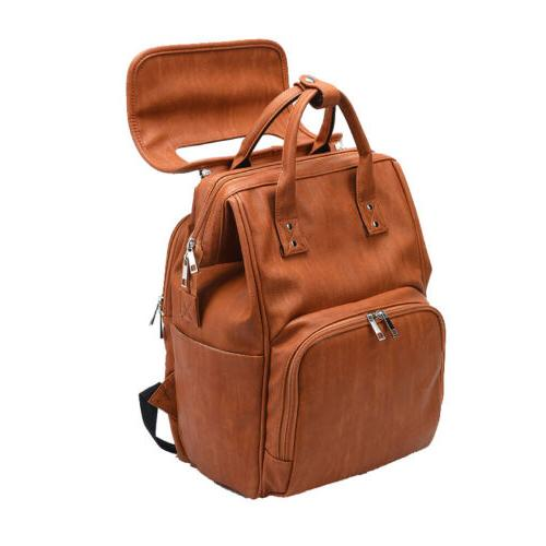 Brown Leather Mummy Baby Nappy Pad