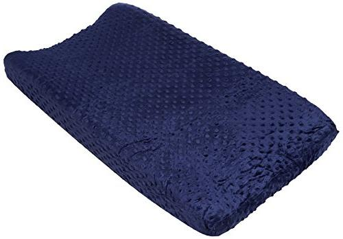 changing pad cover navy popcorn