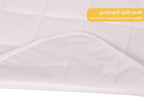 "Changing Pad Waterproof, Ultra-Soft, of Cozy Bamboo Fabric - Washer/Dryer 14"" 27"" for Best"