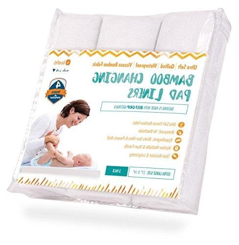 changing pad liners 3 pack waterproof ultra