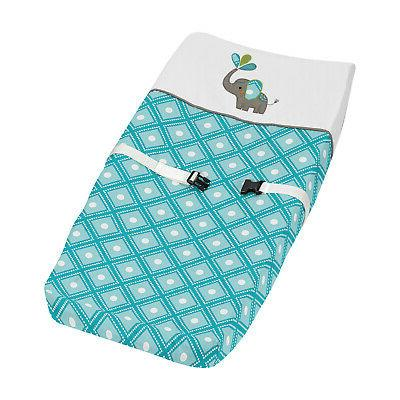 Jojo Changing Table Pad Cover For Modern Elephant Jungle Cri