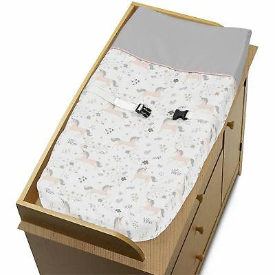 Sweet Jojo Changing Table Pad Cover for Pink Grey Gold Unico
